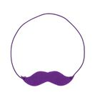 Mustache elastic set of 4 pieces, MIX color