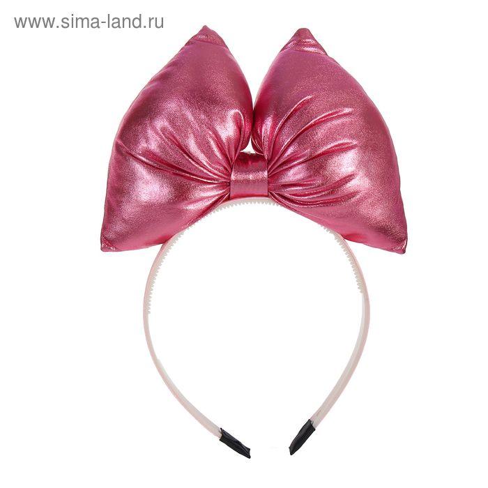 """Карнавальный ободок """"Бант"""", цвет розовый"""