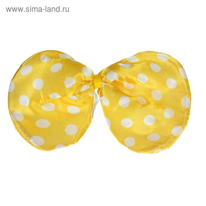 "Карнавальная бабочка ""Горох"", цвет желтый"