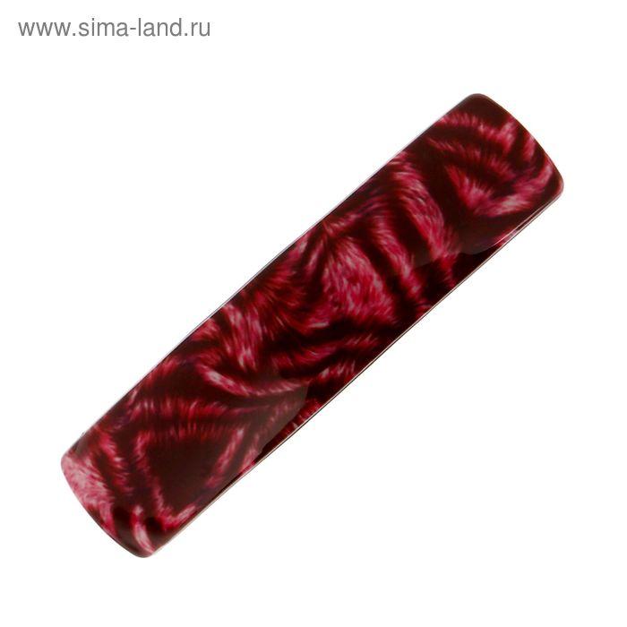 "Заколка-автомат прямая ""Артемида"", этника, микс"