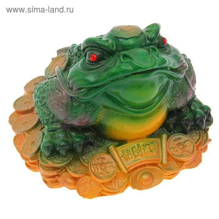 "Копилка ""Жаба №1"" зеленая со стразами"
