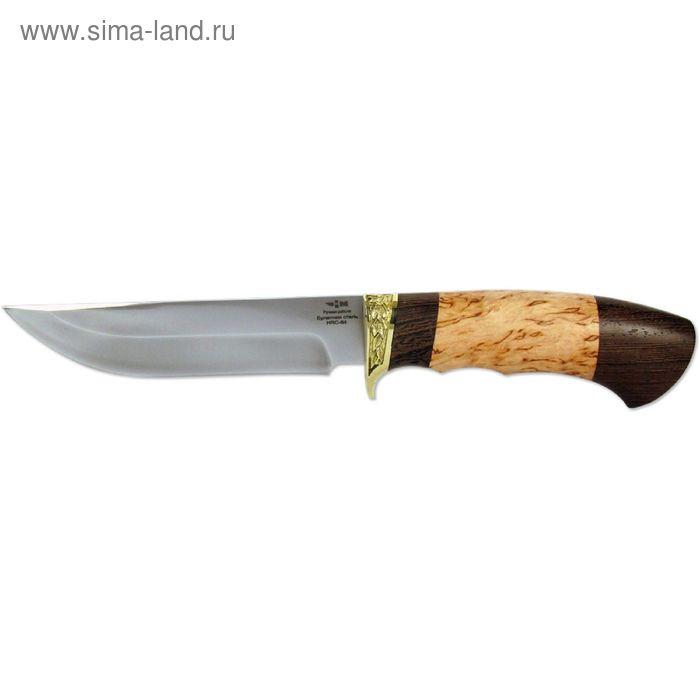 Нож нескладной булатная сталь ЛЕСНИК (5217)б, рукоять-венге/карельская береза, булатная сталь 163741