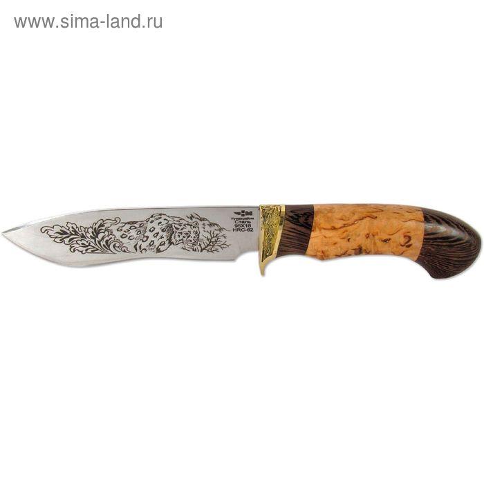 Нож нескладной кованая сталь МИРАЖ (6522)к, рукоять-венге/карельская береза, сталь 95х18