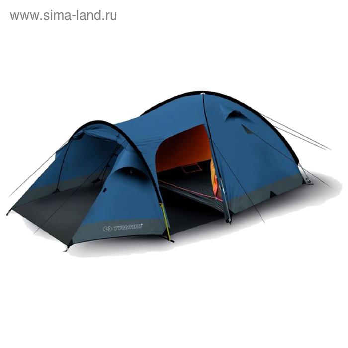 Палатка Trimm Family CAMP II, синяя 4+1, (170+220+70) x 250/170 см