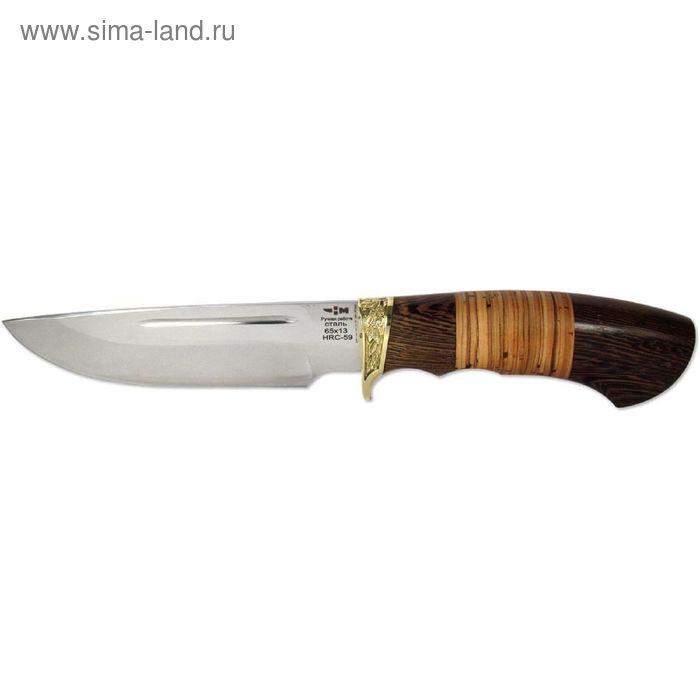 Нож нескладной ГЛУХАРЬ (4666)н, рукоять-венге/береста, сталь 65х13