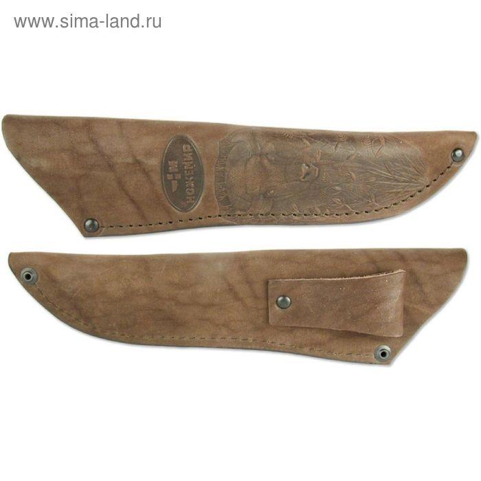 Чехол кожаный для нескладного ножа №5, 25 х 6 х 2,5 см