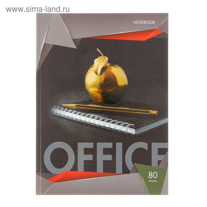 Бизнес-блокнот твердая обложка А4, 80 листов Black & Gold, матовая ламинация, выборочный лак, микс
