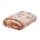 Одеяло стёганное, размер 110*140 см, цвет бежевый К32