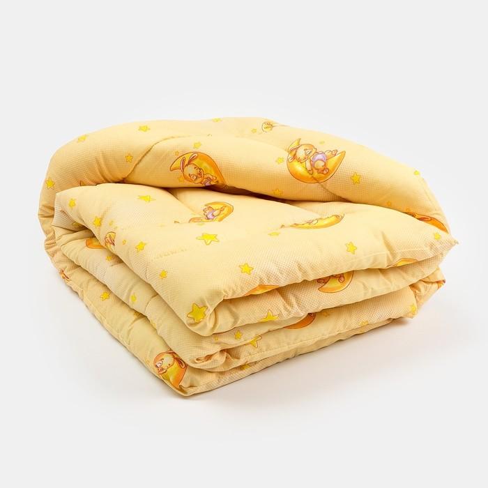 Одеяло стёганное, размер 110*140 см, цвет бежевый МИКС К32
