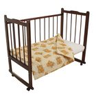 Одеяло стёганное, размер 120*120 см, цвет бежевый (Принт микс) К32/1
