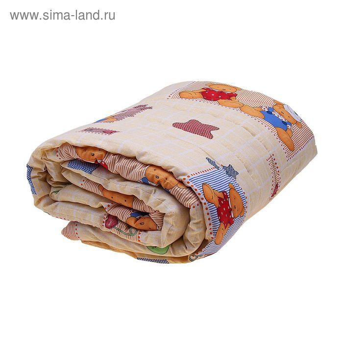 Одеяло шерстяное стёганное, размер 110*140 см, цвет Микс К31