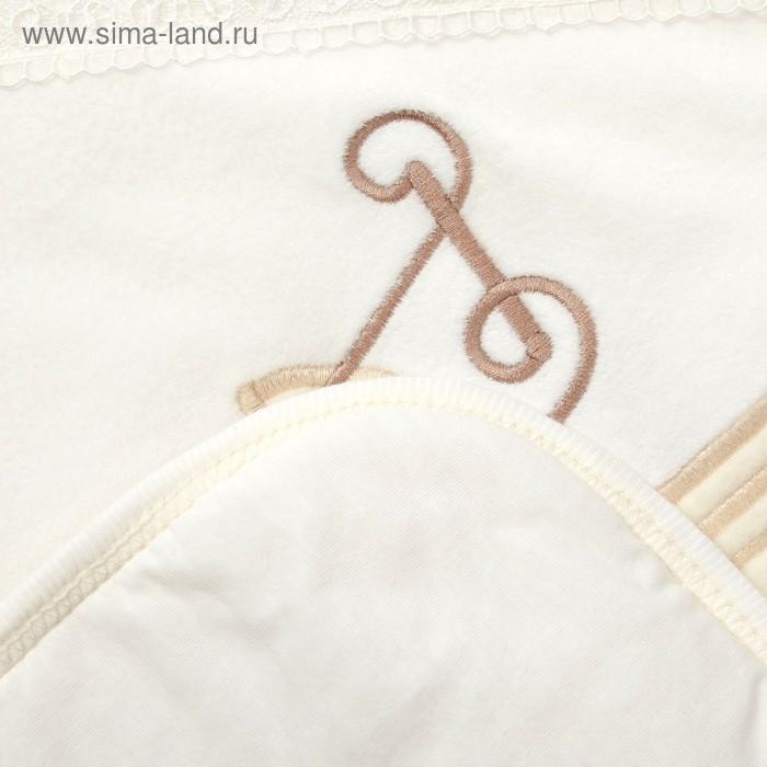 """Одеяло-плед """"Коляска ретро"""", размер 80*90 см, цвет светло-бежевый К010-15"""