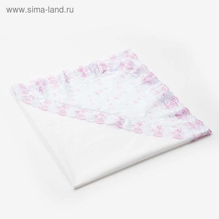 Уголок для новорождённого, размер 80*80 см, цвет белый, принт микс К27