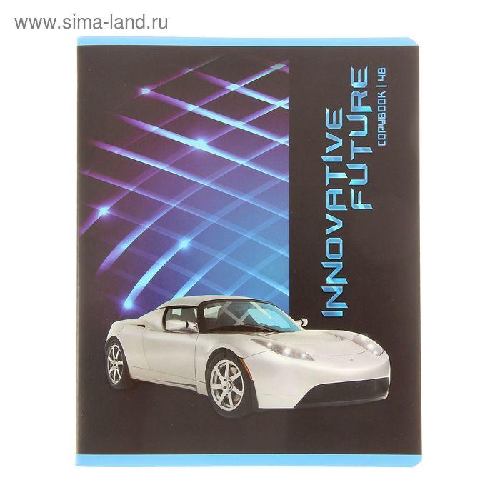 """Тетрадь 48 листов клетка """"Innovative Future"""", картонная обложка, выборочный лак, МИКС"""