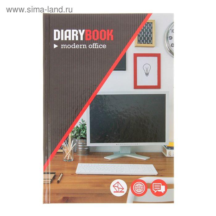 Ежедневник недатированный А5, 176 листов Stylish office, твердая обложка, глянцевая ламинация, МИКС