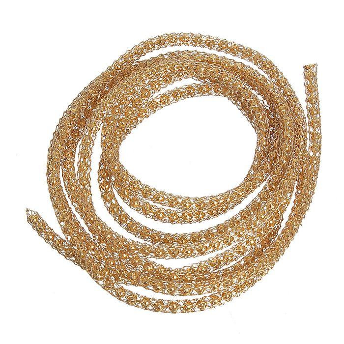 Цепочка вязаная декоративная SCJ, d=3мм, под золото
