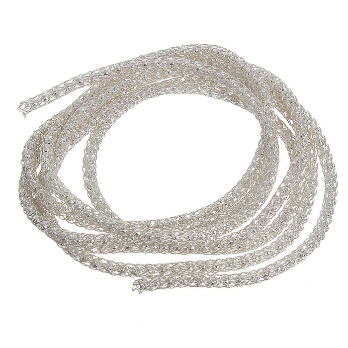 Цепочка вязаная декоративная SCJ, d=3мм, под серебро