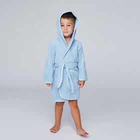 Халат махровый для мальчика, рост 98-104 см, цвет голубой К07_Д - фото 1394826