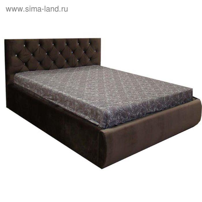 Кровать Валенсия 140 с орт. Основанием Коричневый велюр
