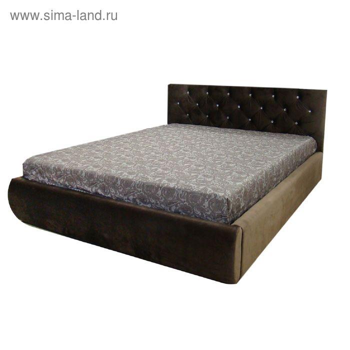 Кровать Валенсия 160 с орт. Основанием Коричневый велюр