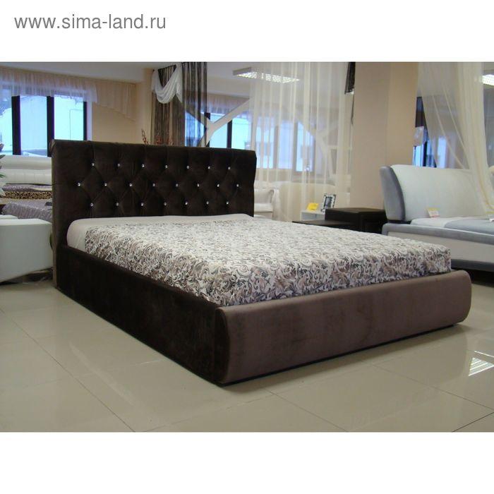 Кровать Токио 140 с орт. Основанием Коричневый велюр