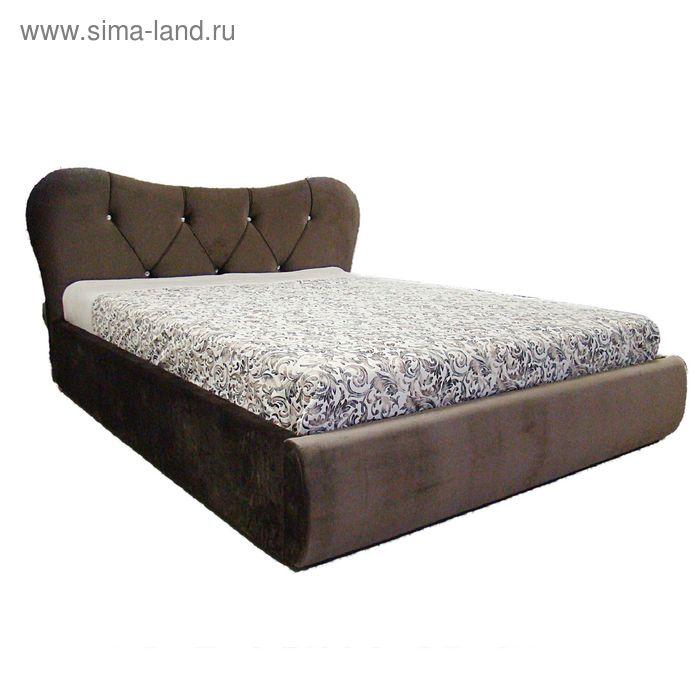 Кровать Феодосия 140 с орт. Основанием Коричневый велюр