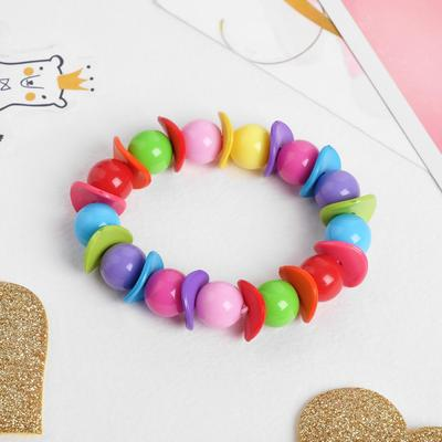 """Bracelet children's """"Vibracula"""", wave with beads, colorful"""
