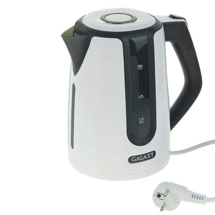 Чайник электрический Galaxy GL 0207, 2200 Вт, 1.7 л, автоотключение при закипании, черный