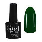 Гель-лак для ногтей трёхфазный LED/UV, 10мл, цвет В2-045 зелёный