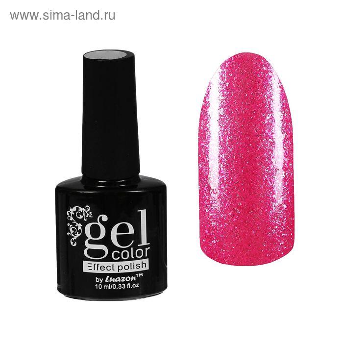 Лак для ногтей с эффектом гелевого покрытия 10 мл 6602-9 ярко-розовый перламутр