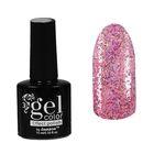 Лак для ногтей с эффектом гелевого покрытия 10мл 6602-29 розовый блестки