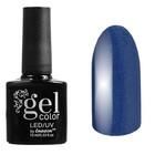 Гель-лак для ногтей трёхфазный LED/UV, 10мл, цвет В2-060 тёмно-синий перламутровый