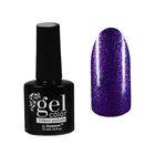Лак для ногтей с эффектом гелевого покрытия 10мл 6602-10 фиолетовый блестки