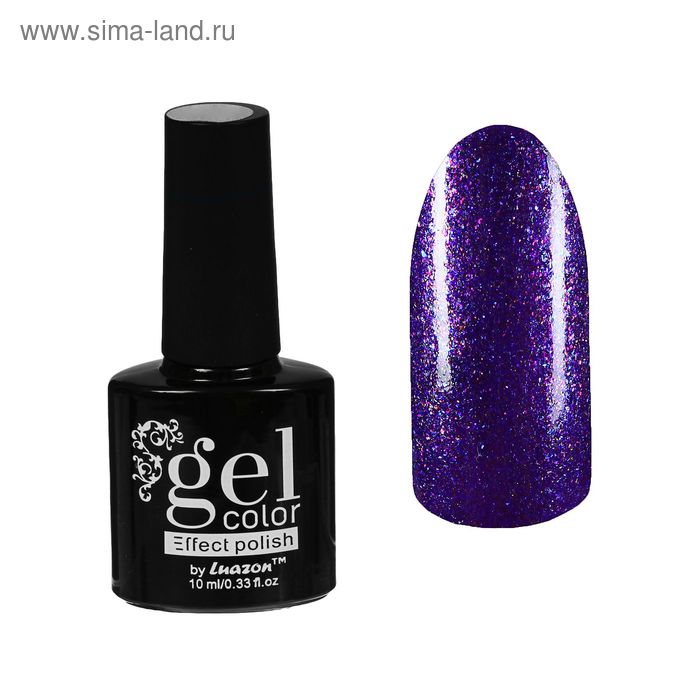 Лак для ногтей с эффектом гелевого покрытия 10 мл 6602-10 фиолетовый блестки