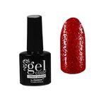 Лак для ногтей с эффектом гелевого покрытия 10 мл 6602-11 красный блестки