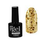 Лак для ногтей с эффектом гелевого покрытия 10мл 6602-35 золото блестки