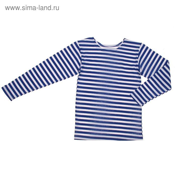 Фуфайка для мальчика, рост 164 см, цвет белый/васильковый с04-702-030_П