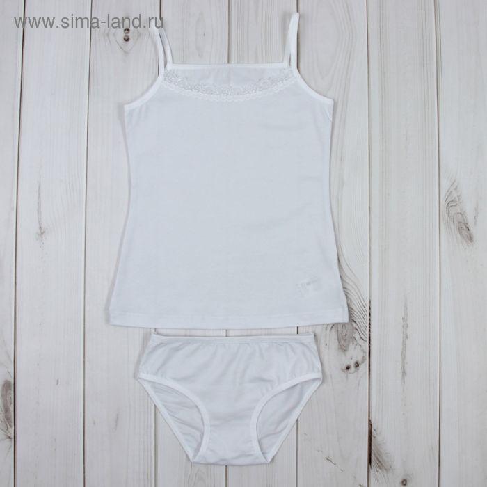 Комплект для девочки (майка, трусы), рост 134 см, цвет белый К309_Д