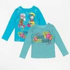 Комплект джемперов для девочки - 2 шт., рост 98 см, цвет бирюзовый, принт горох Л088
