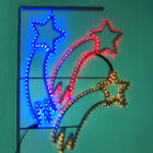 "Светодиодная консоль ""ТРИ КОМЕТЫ"", 1 х 0.95 м, led-шнур 12 м, 35 Вт, металлический каркас"