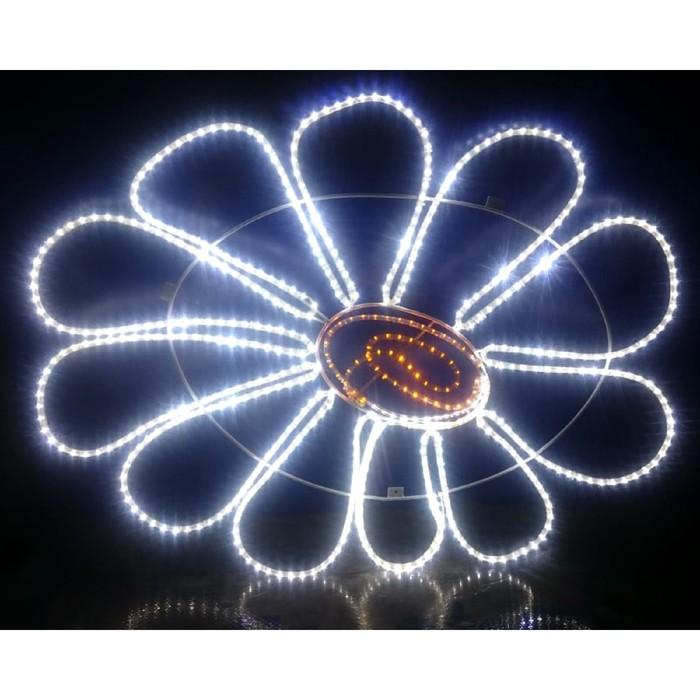 "Светодиодное панно ""РОМАШКА"", 0.8 х 0.65 м, led-шнур 8 м, 20 Вт, металлический каркас"