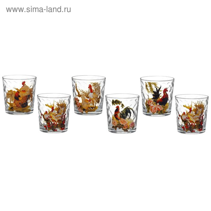 """Набор стаканов 250 мл """"Год петуха"""", 6 шт, в подарочной упаковке"""
