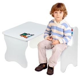 Набор мебели «Забавные животные», цвет белый
