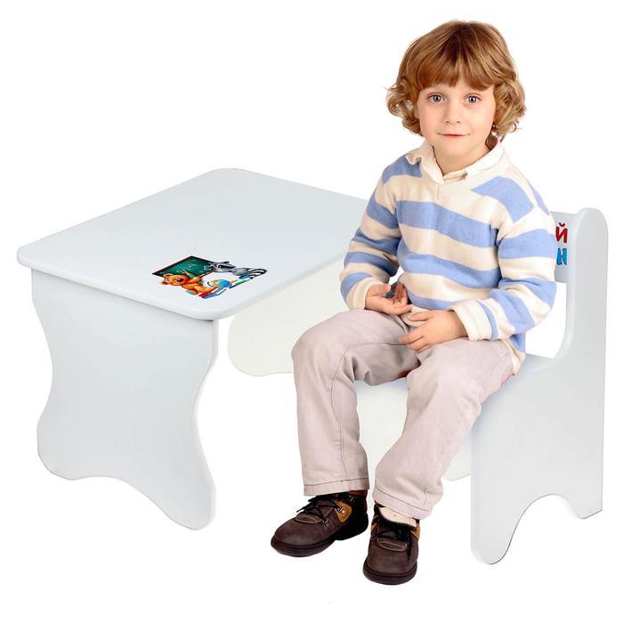 """Набор мебели """"Забавные животные """", цвет белый"""
