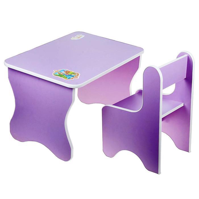 """Набор мебели """"Принцесса"""", цвет фиолетовый - фото 105449026"""