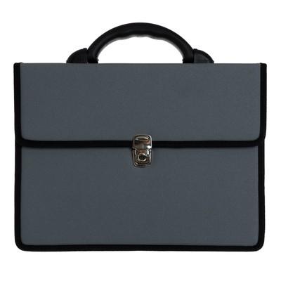 Портфель деловой, цвет серый
