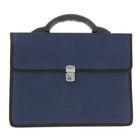 Портфель деловой «Выборг», 350 х 260 х 10 мм, цвет синий