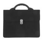 Портфель деловой «Выборг», 350 х 260 х 10 мм, цвет чёрный