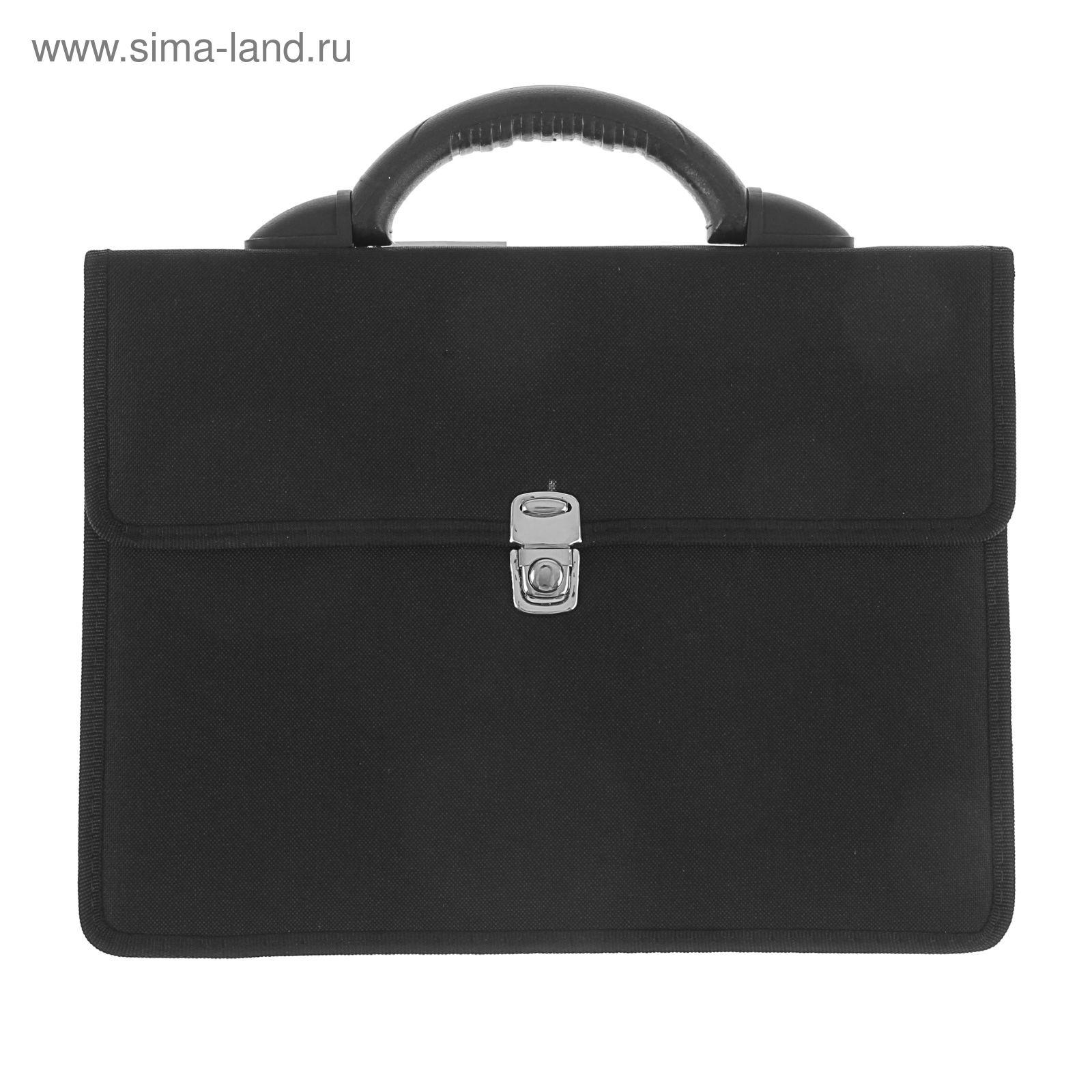 eab57d0aa7c0 Портфель деловой «Выборг», 350 х 260 х 10 мм, цвет чёрный (1С11 ...