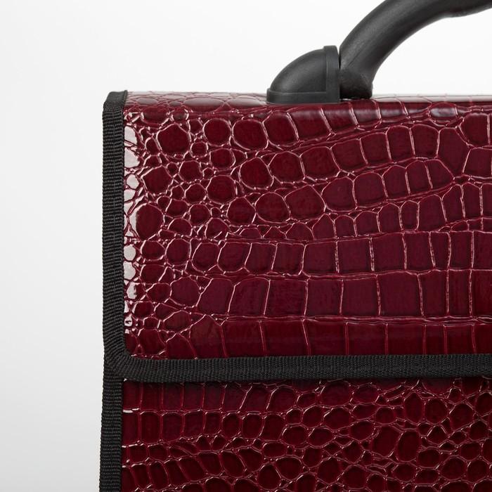 Портфель деловой, 2 отдела, цвет бордовый